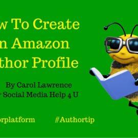 How To Create An Amazon Author Profile