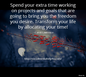 allocate your time - smh4u