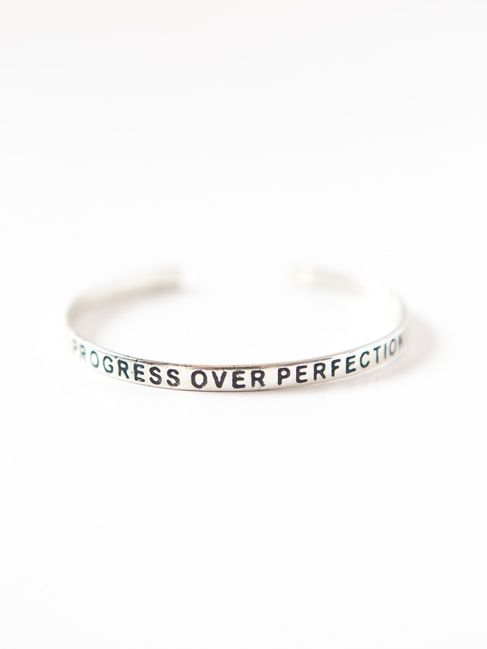 Progress Over Perfection Bracelet