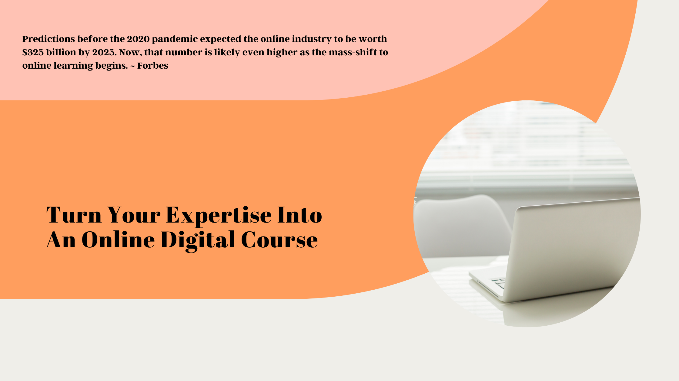 Turn your expertise into a digital course
