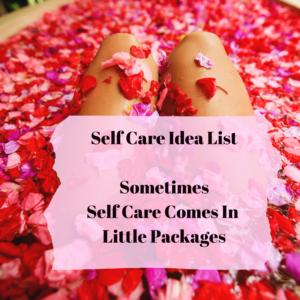 Downloadable Self Care List